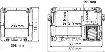 Waeco Coolfreeze CFX 35 Technische Zeichnung